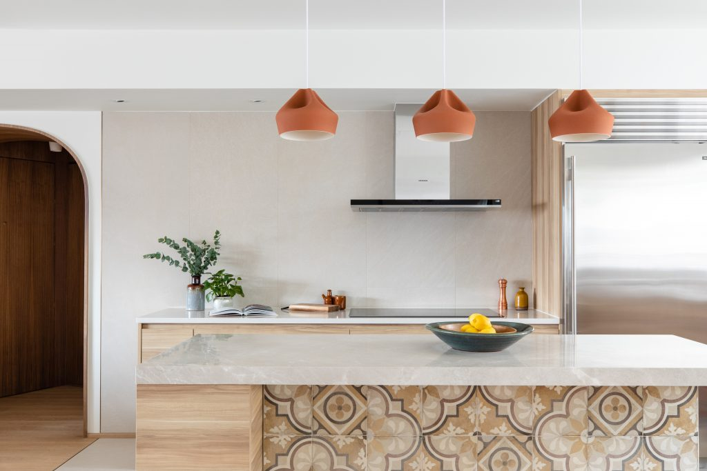 kitchen patterned tiles